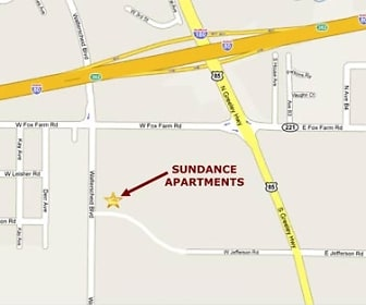 Map, Sundance Apartments