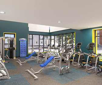 Fitness Weight Room, Southside Commons - Per Bedroom Lease