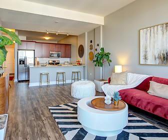 Living Room, Arrive South Loop Apartments