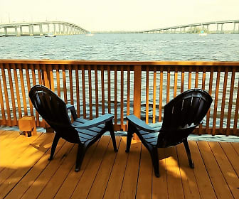 Enjoy the view from the private boardwalk, Riverwalk Apartments