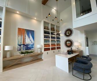 living room with tile flooring, The Duke of Charleston