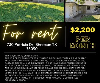730 Patricia Dr. Sherman, Sherman, TX