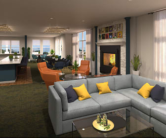 Living Room, The Bevy Apartments