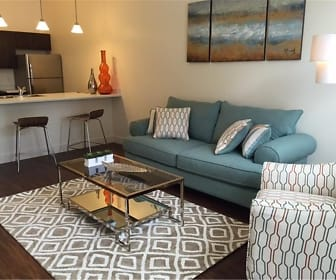 Living Room, West Station Apartments