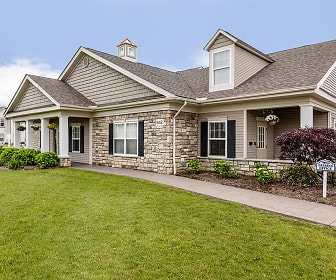 craftsman house with an expansive front lawn, Cobblestone Court