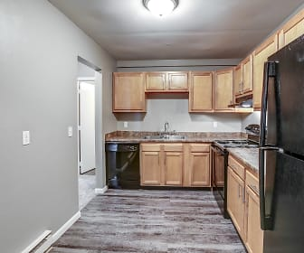 Kitchen, Riviera Apartments