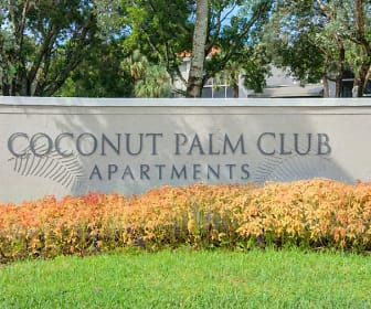 Community Signage, Coconut Palm Club Apartments