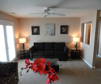 Living Room, Village Crossing Apartments