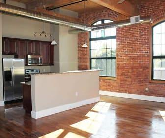 Kitchen, Lofts at Pocasset Mill