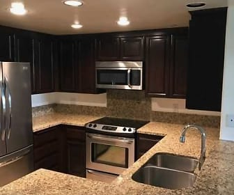 Kitchen, 555 Barrington Avenue Apartments