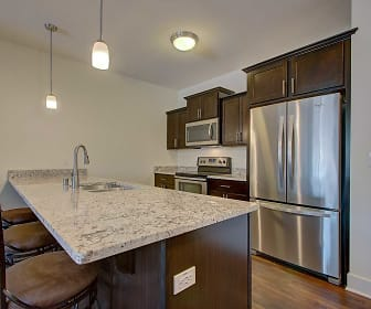 Kitchen, The View at Towne Center Luxury Apartments