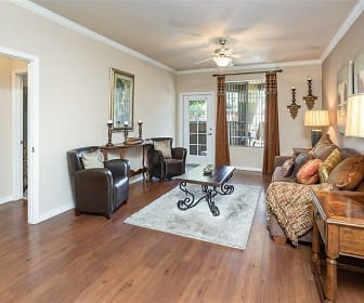 hardwood floored living room with natural light and a ceiling fan, Superstition Canyon