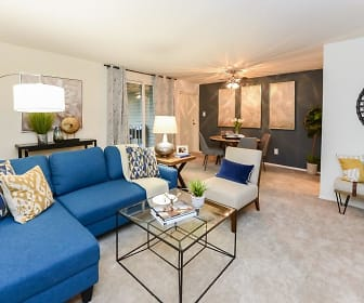 Living Room, Sherwood Crossing Apartments & Townhomes