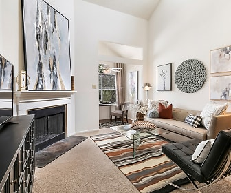 Living Room, Hickory Creek Apartments