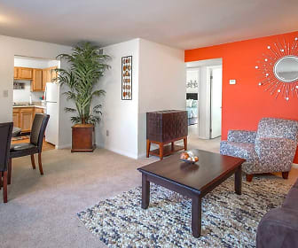 Living Room, Auburn Pointe Apartments