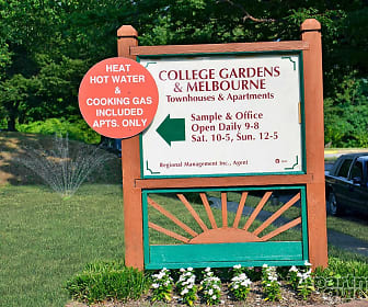 Community Signage, College Gardens Apartments & Townhouses