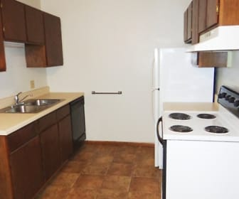 Kitchen, Oak Place Apartments