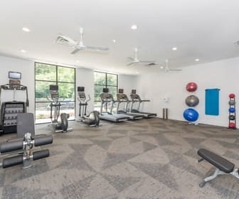 Fitness Weight Room, The Gallery - Midtown Apartments