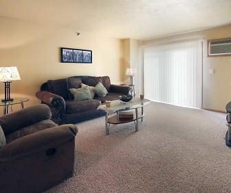 Living Room, Hawk Pointe Apartments