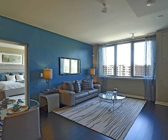 Living Room, RiverTrace at Port Imperial