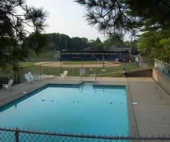 Pool area, Field Terrace Apartments