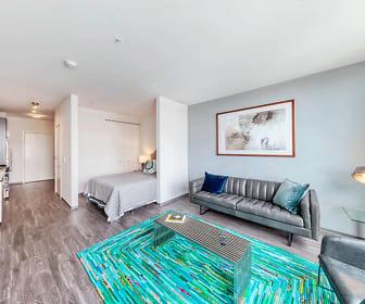 view of hardwood floored living room, Noca Blu