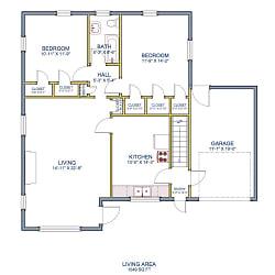 36 N Ash St Unit A floor plan SQ.png