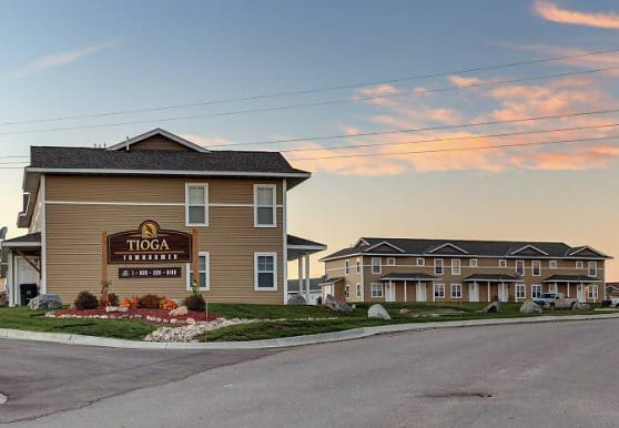 view of community sign, Tioga Townhomes
