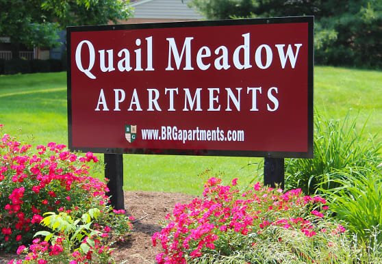 view of community sign, Quail Meadow Apts