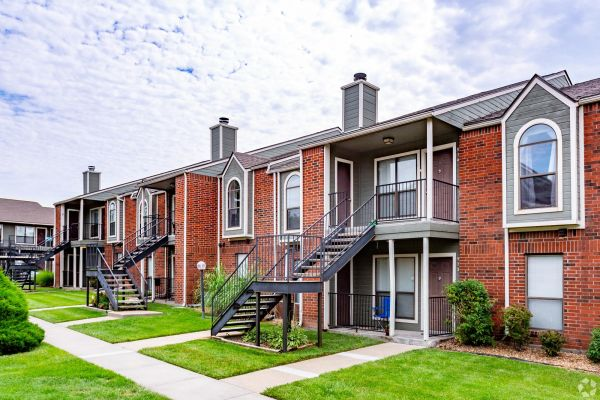 Apartment homes at Crown Colony Apartments in West Topeka, KS